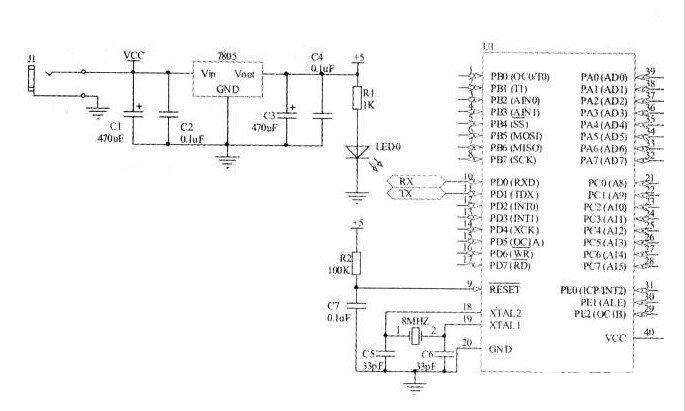 带PC机串口通讯的机器人控制系统电路设计