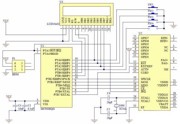 基于低端微控制的无线控制器系统电路设计