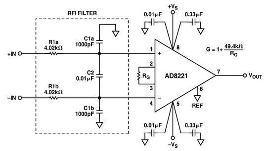 放大器中射频干扰整流误差电路盘点