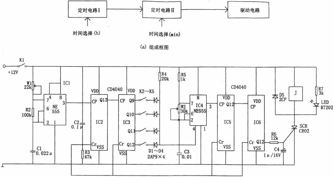 一款多谐振荡器的振荡电路图
