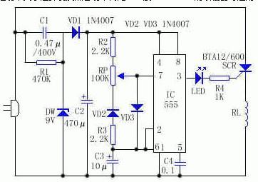 家用红外取暖器温控电路图