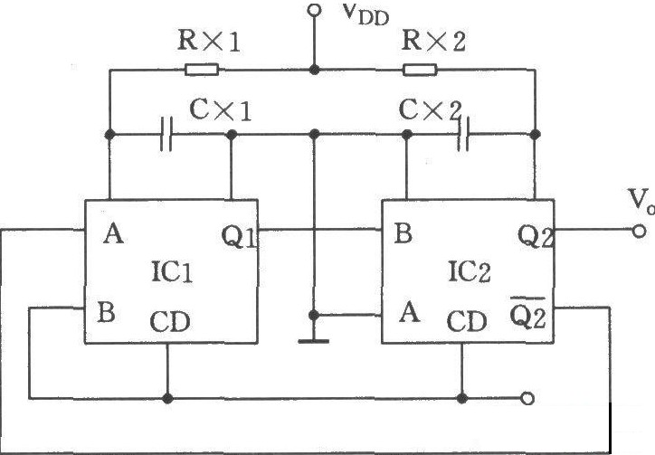 可调的多谐振荡器电路