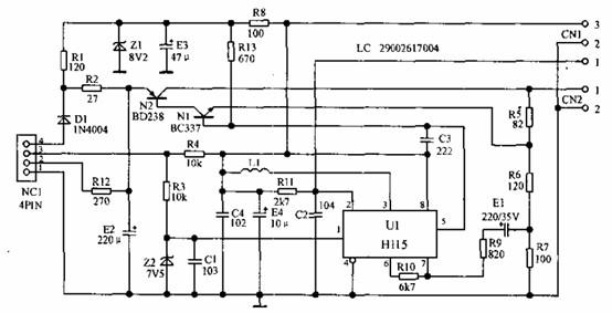 型   电子   如下图所示,介绍的是一款轻型客车里程表电路,该高清图片