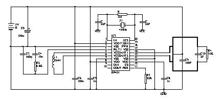 一款150MHz超短波干扰定向仪电路图
