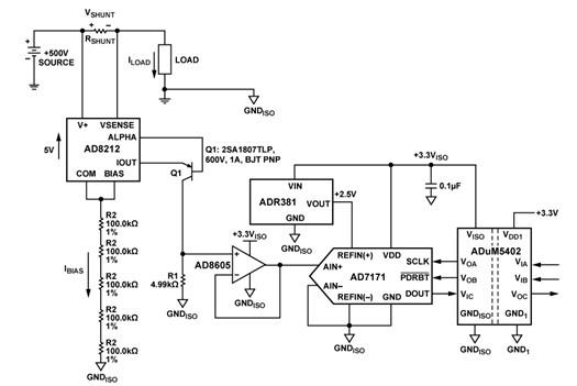 一款的电流监控器电路图