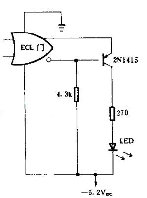 基于PNP 逻辑驱动LED的接口电路图