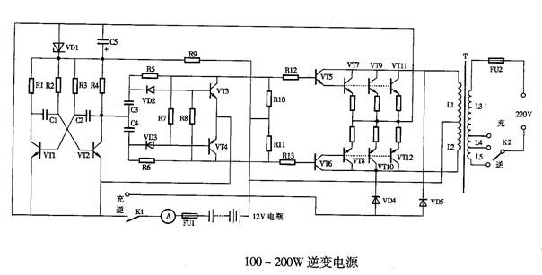 一种直流电逆变成交流电的电路