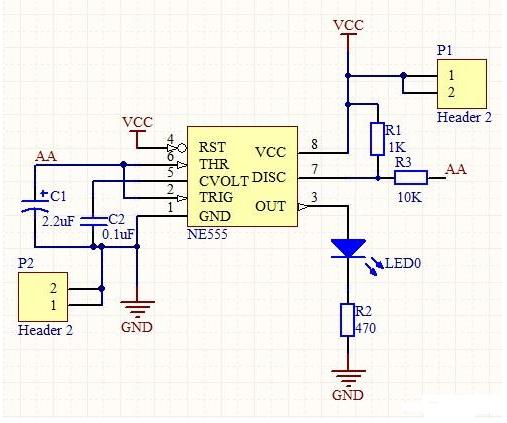 描述555的8脚是集成电路图
