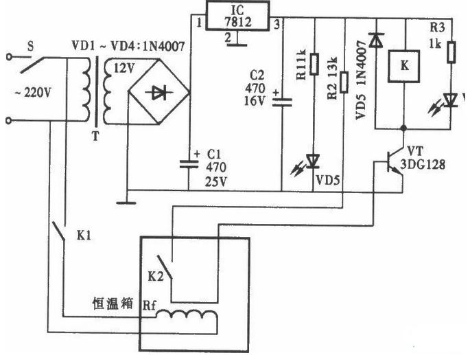 一款RKC XTE-7000的温度控制器电路图