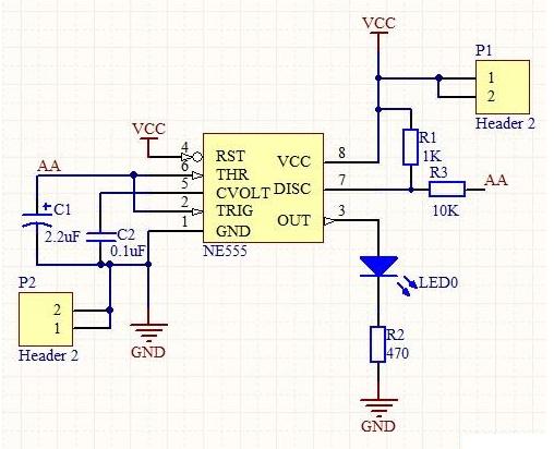 NE555的指数式压控振荡器电路图