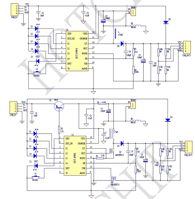 一款集成充电管理模块的电路图