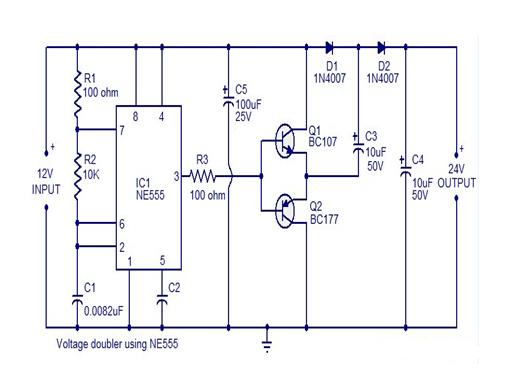NE555定时器电路框图