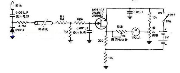 简易、可靠的齐纳管测试仪电路图