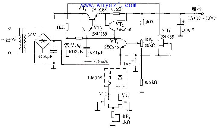 低温漂稳压管的稳压电路图