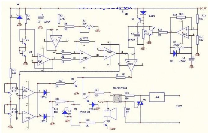 高精度无温阶恒温控制器电路