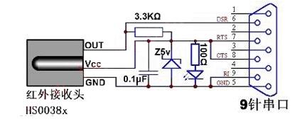 遥控接收器的制作电路图
