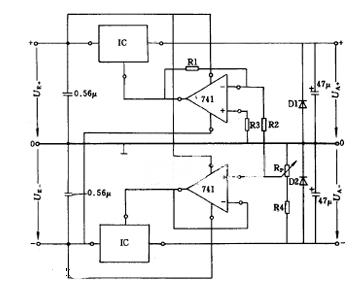 正负电压可同步调节的稳压电路图