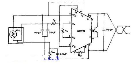 温度传感器变送原理电路图