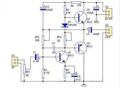 9012、9013 OTL分立元件功放电路图