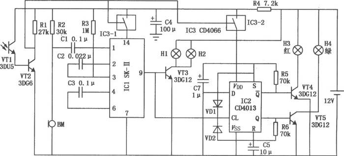 自动电子路标的电路