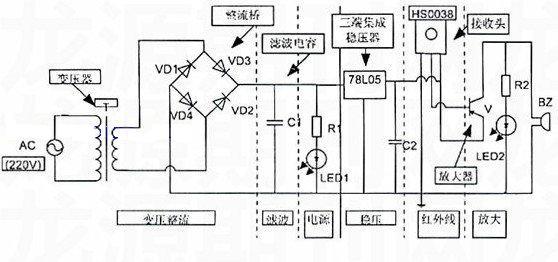 遥控器检测仪电路图
