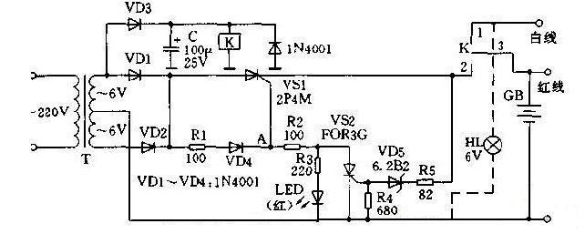 "6V""千里眼""充电器电路图解析"