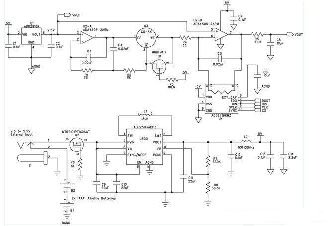 便携式气体探测器电路图
