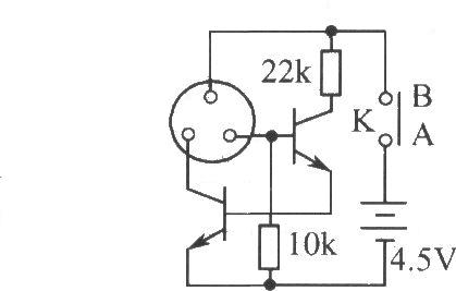 激光电筒电路图