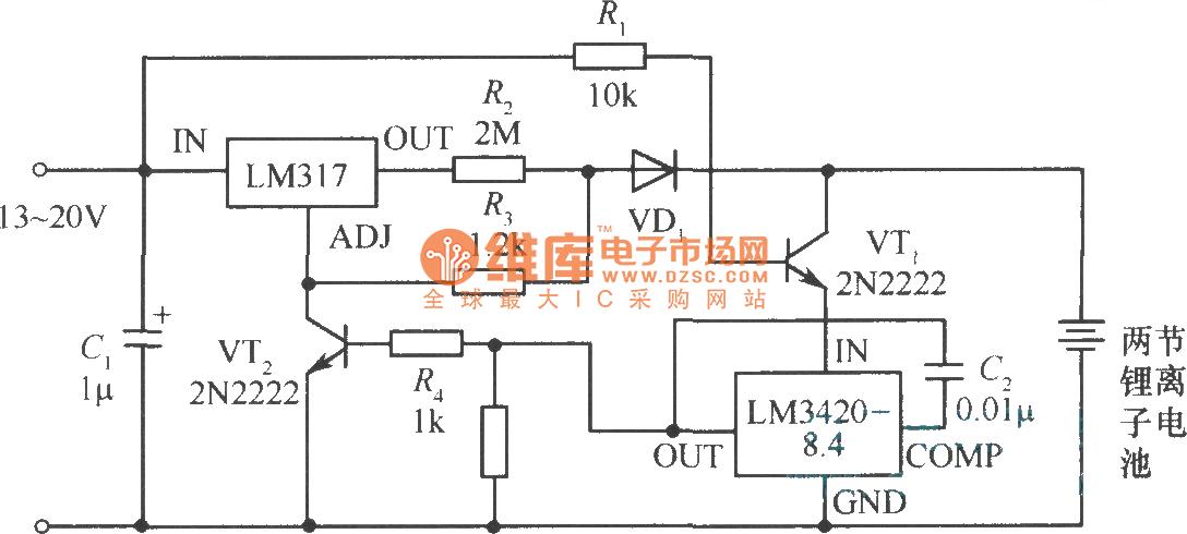 【图】锂离子电池充电器电路图充电电路
