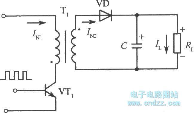 【图】单端反激式变换器开关稳压电源原理图开关稳压