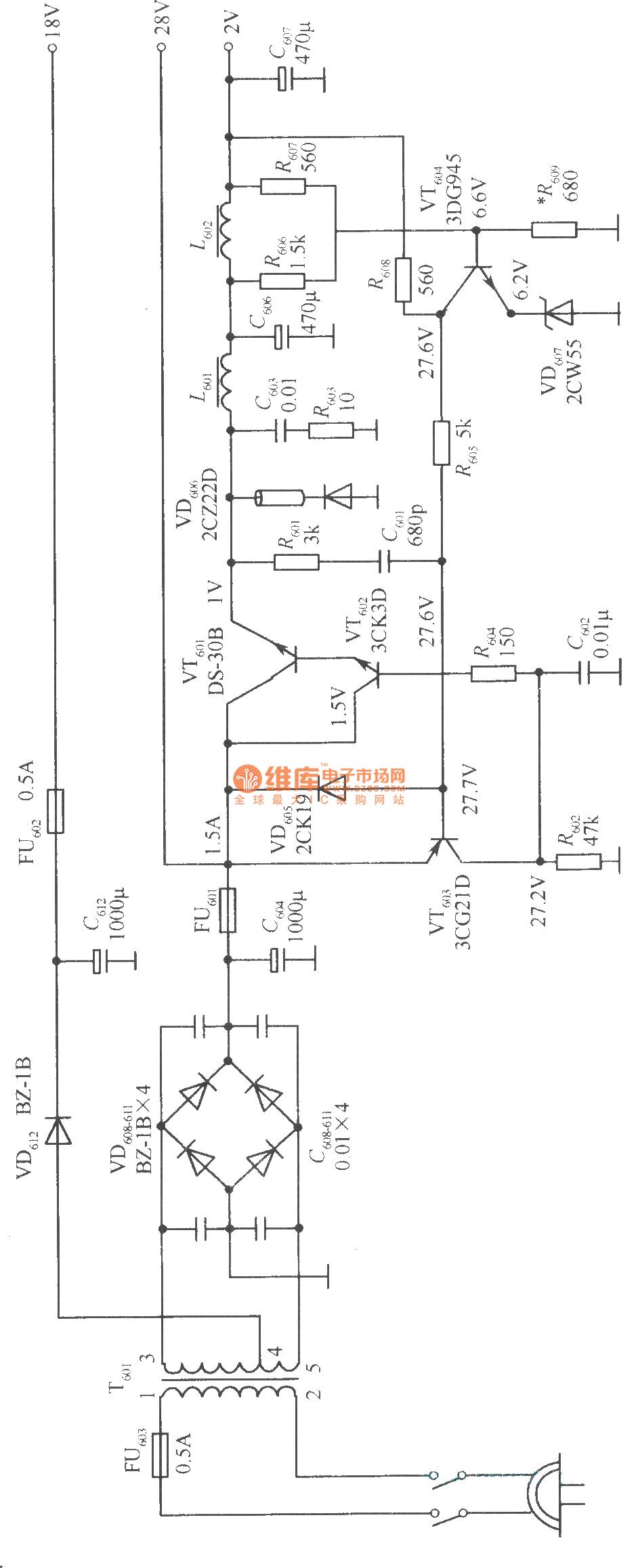 【图】北京牌黑白电视机开关稳压电源开关稳