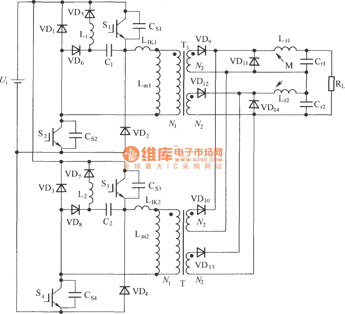 【图】双管正激变换器电路拓扑图IGBT应用电