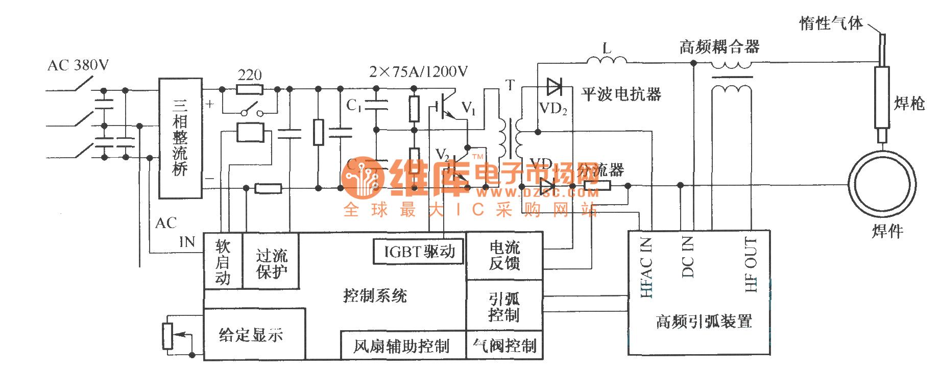 【图】逆变器为半桥式的开关电路图igbt应用电路