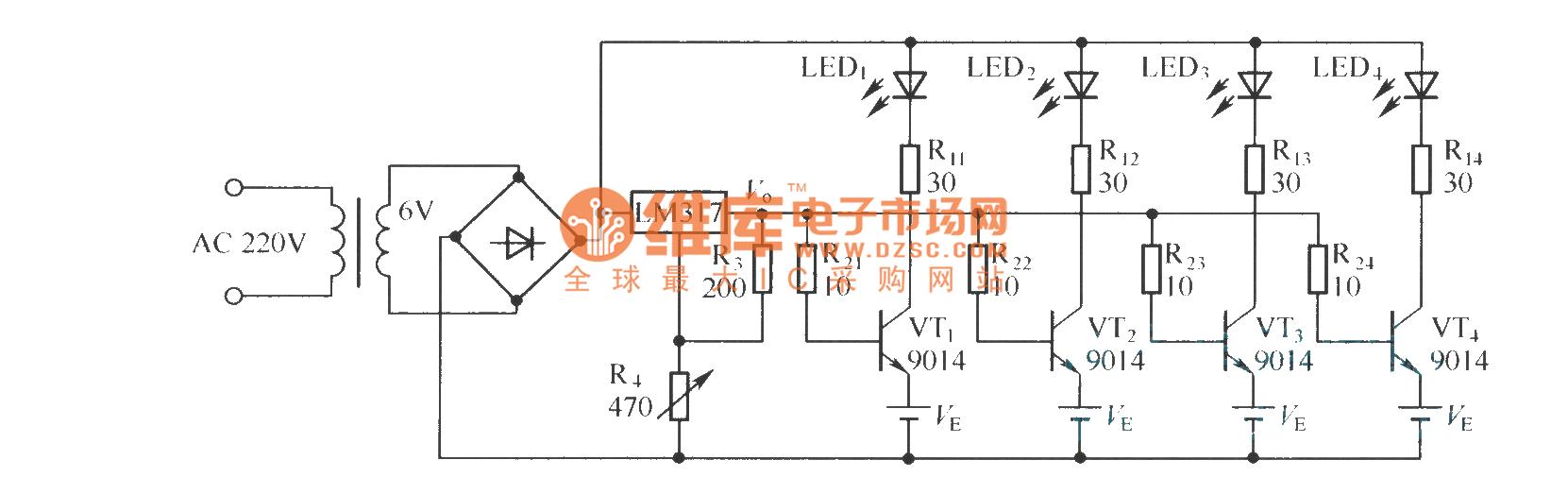 简单镉镍电池自动充电器电路(一)