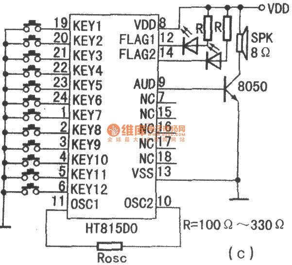 数字脉冲编码调制语音合成系列语音电路 电路图高清图片