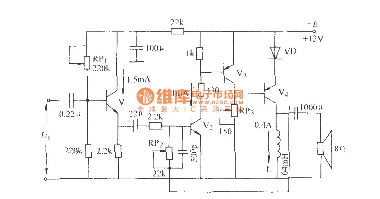 【图】单管0tl功率放大电路调节放大