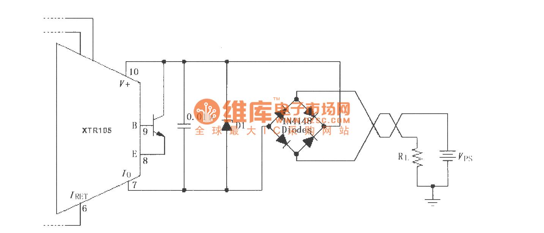 【图】xtr105反向电压和浪涌过电压保护电路电流环