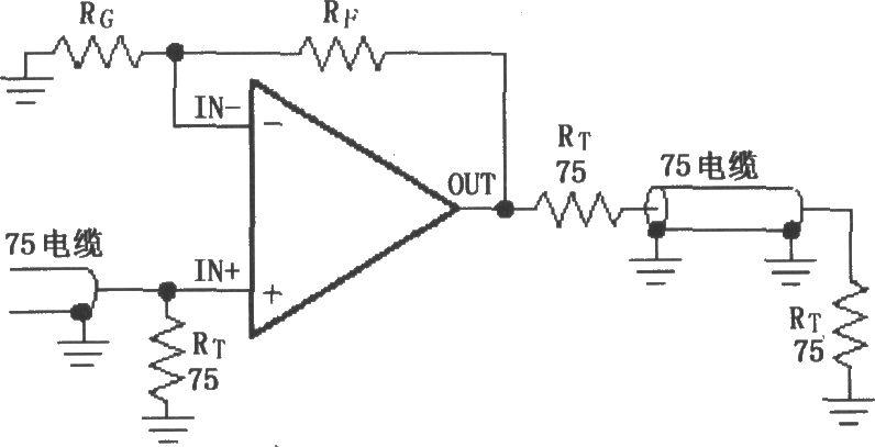 传输线放大视频信号,为了使传输过程反射最小,负载上获得最大功率