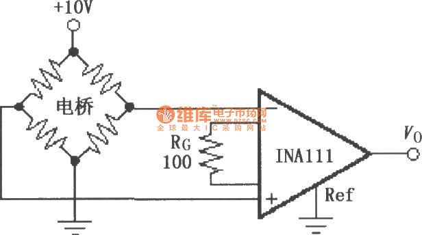 【图】ina111电桥传感器放大电路仪表放大器