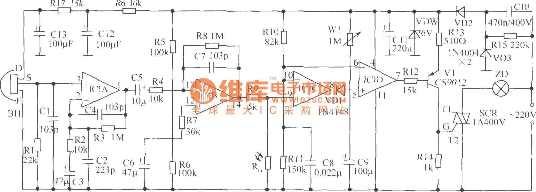 【图】水塔水位控制器电路光电耦合器