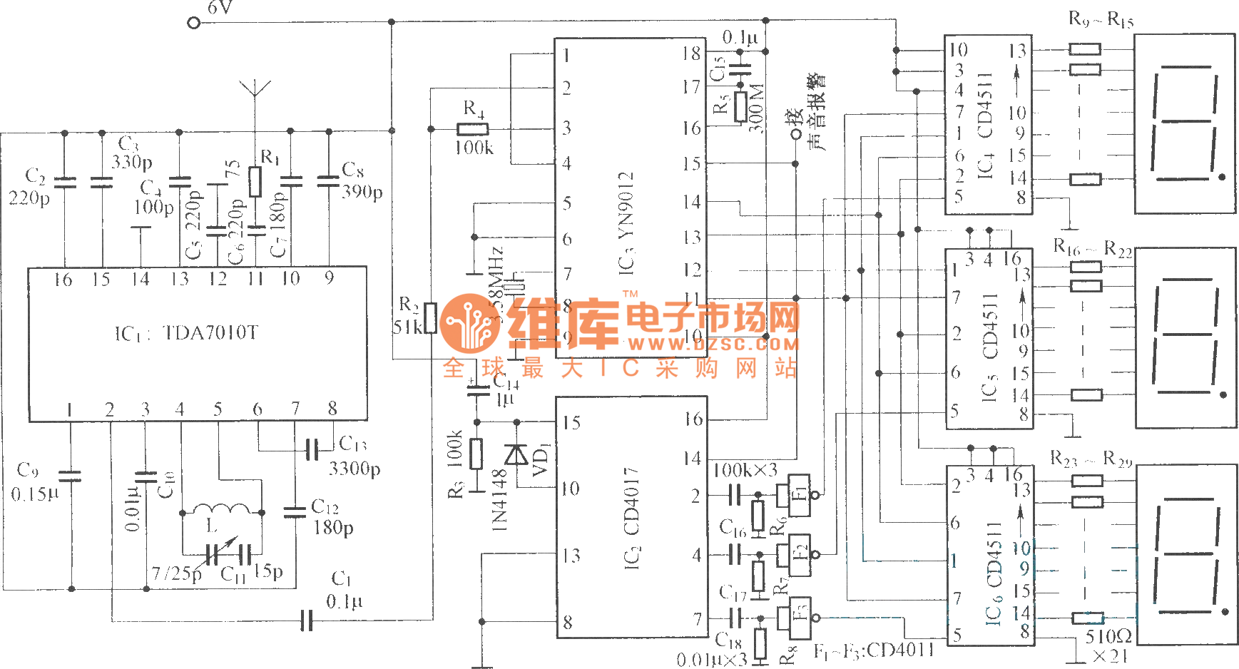 【图】调频无线电接收主机红外线热释遥控