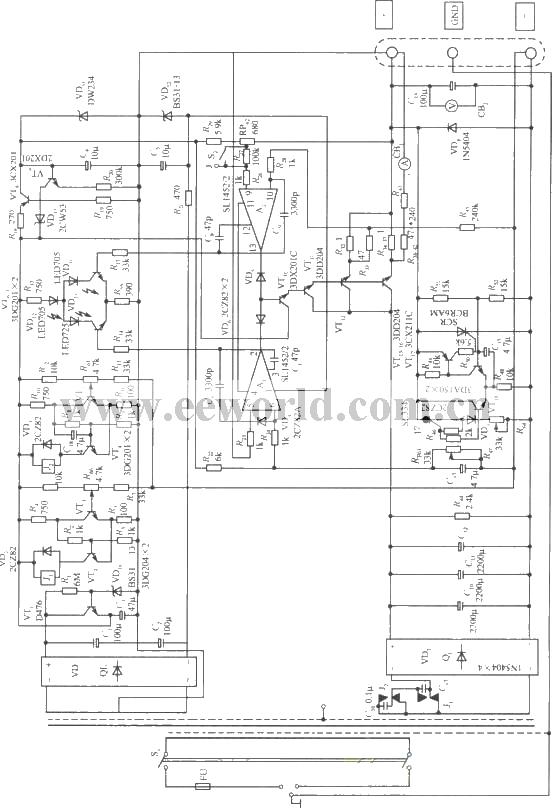 0~30v,3a稳流稳压电源电路