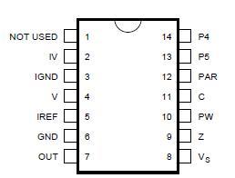FOR RECTANGULAR TV-TUBES DIP14 IC TDA8146 EAST//WEST CORRECTION