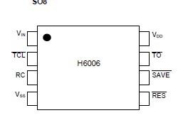 H6006B2 IC CMOS FAILSAFE WATCHDOG DIP-8