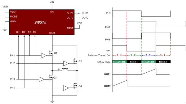 乒乓模式能使一个单电流传感器代替两个ct(通常用来监视变压器磁通