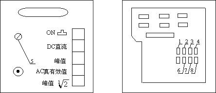 多值千伏表正视图(图一)和后视图(图二)