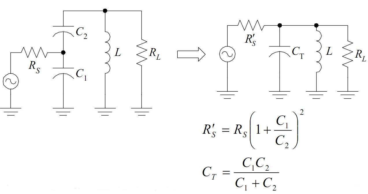 电容抽头谐振电路
