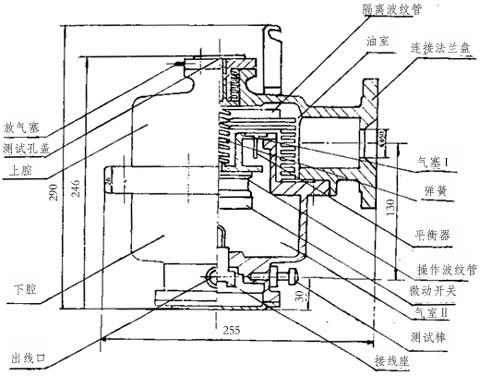 速动油压继电器结构图