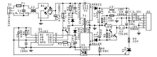 dvd电源板的原理图