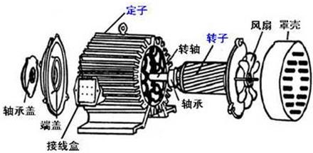 三相异步电动机的分解图-三相异步电动机图片